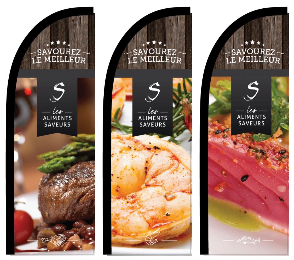 Les Aliments Saveurs – Communication tools
