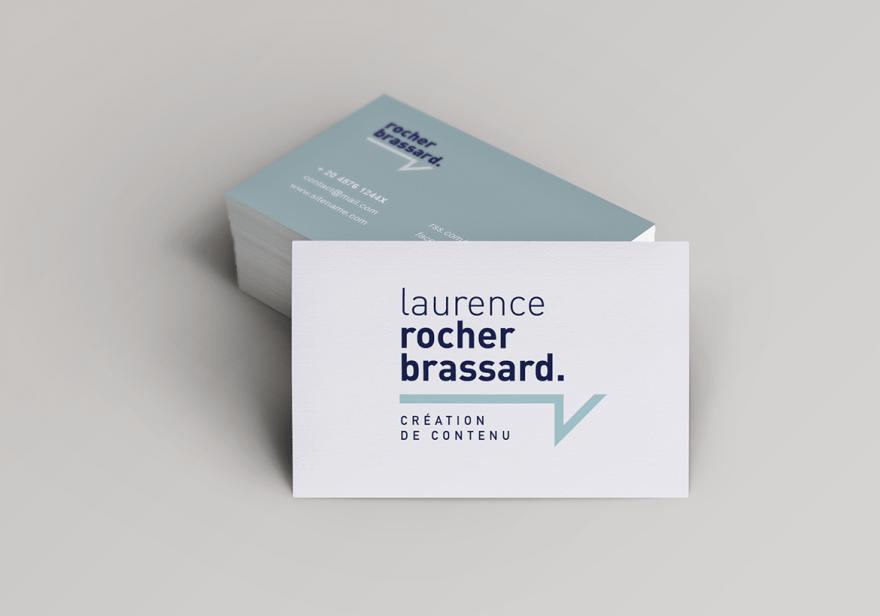 Laurence Rocher Brassard - Création de contenu - Cartes d'affaires