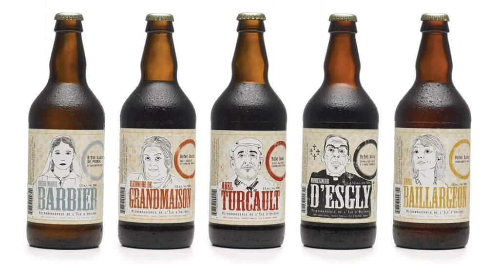 Quebec microbrewery branding