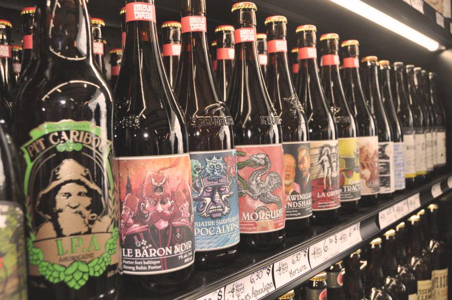 Bières de microbrasseries québécoises