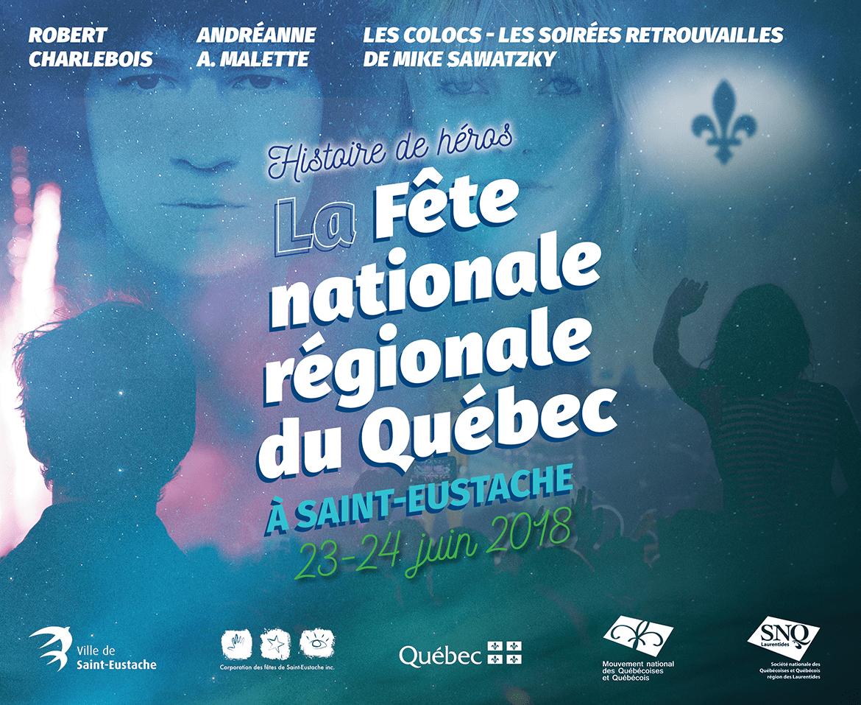 Couverture du programme de la Fête Nationale Régionale du Québec 2018 à Saint-Eustache