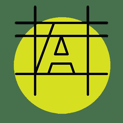 Icône de conception de logo, dessin d'une typographie