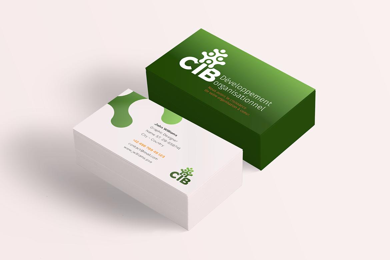 Design de papeterie pour CIB developpement organisationel